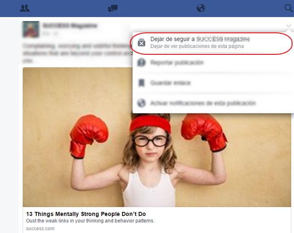 bloquear paginas en facebook desde el movil