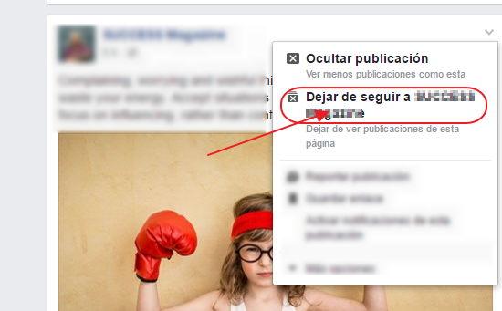 bloquear paginas en facebook