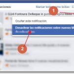 desactivar notificaciones en facebok