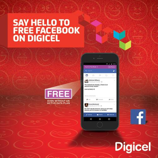 facebook con Digicel