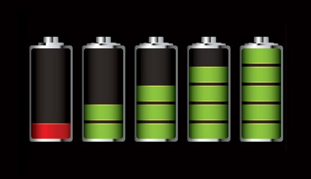 imagen bateria en diferentes estados de carga
