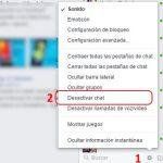 Cerrar el chat de facebook desde la computadora