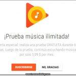 Google music gratis (por dos meses)