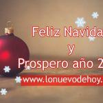 Feliz Navidad les desea lo nuevo de hoy