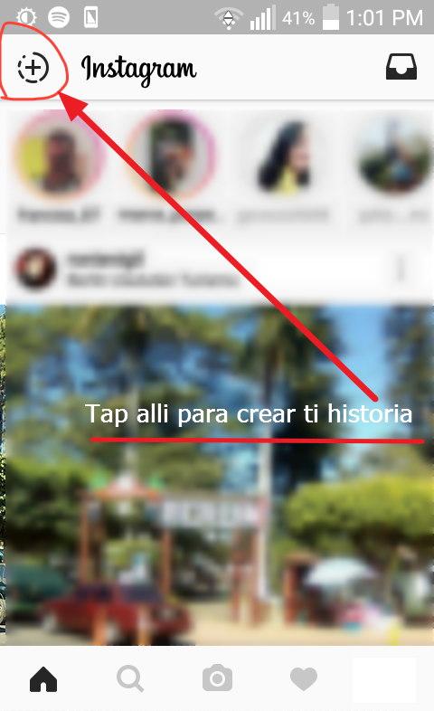 crear una historia en instagram