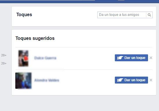 dar toques facebook