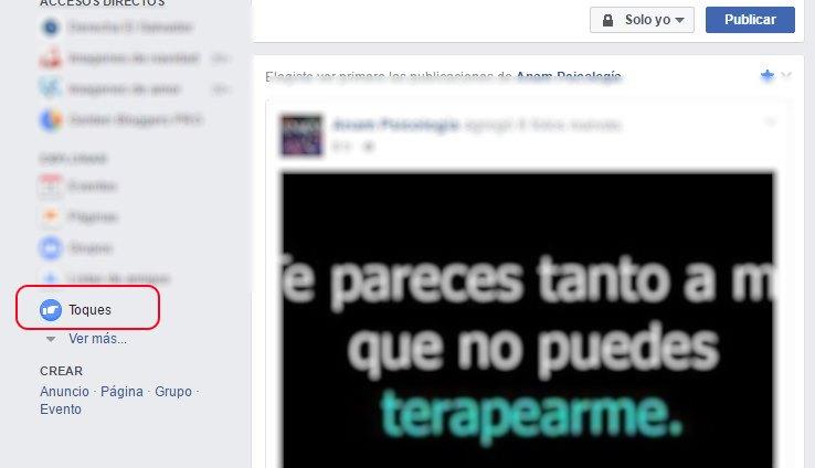toques en facebook