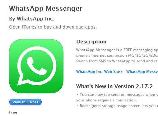 whatsapp 2017 ios