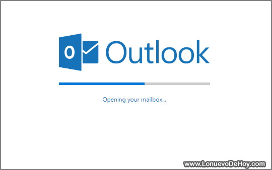 cargando outlook