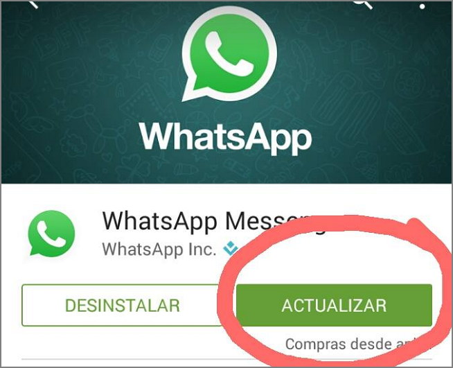 Actualizar whatsapp android iphone