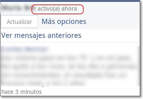 activo ahora facebook