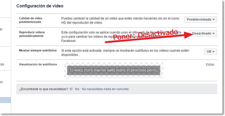 desactivar reproduccion automatica de videos