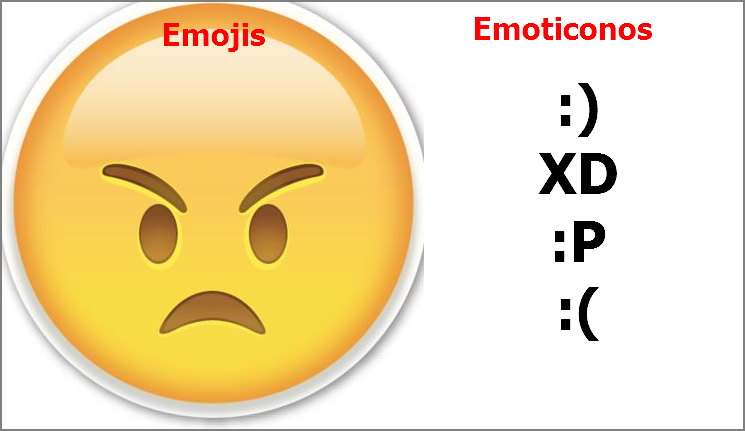 emojis vs emoticonos