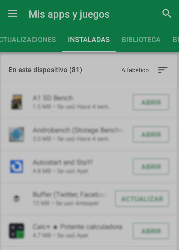 ver apps instaladas en mi android