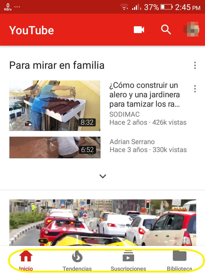app de youtube android