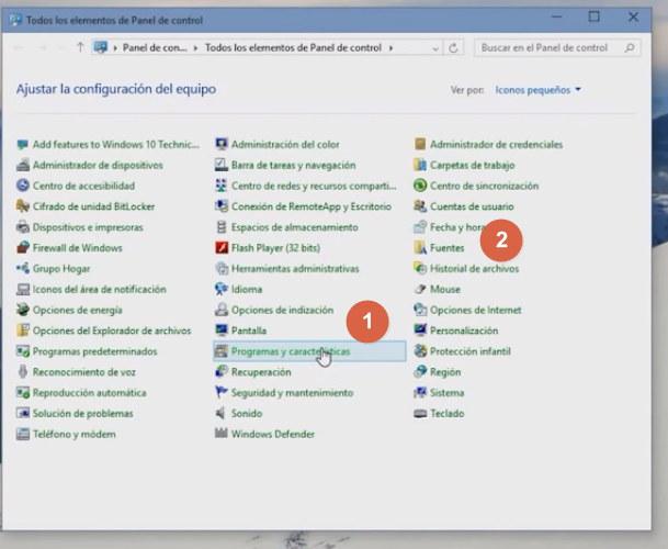 Desinstalar programas windows 10 imagen 1