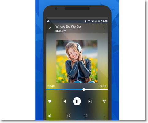 Escuchar musica de dropbox en android