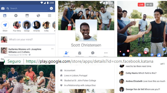 actualizar facebook android
