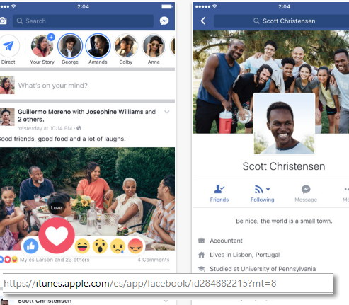 actualizar facebook iphone