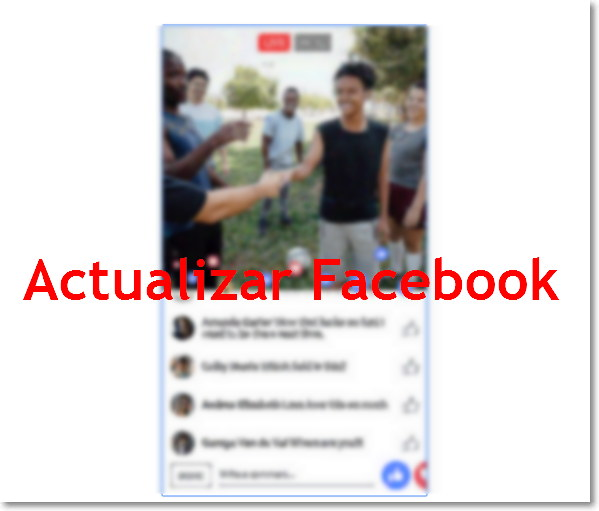 como actualizar facebook