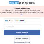 Recuperar una cuenta de Facebook Inhabilitada