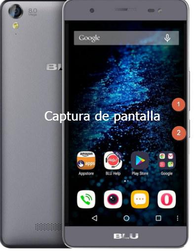 captura de pantalla telefono blu android