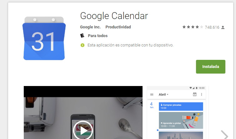 google calendario android