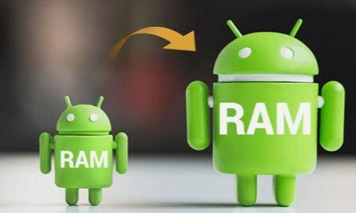 aumentar la memoria virtual en Android