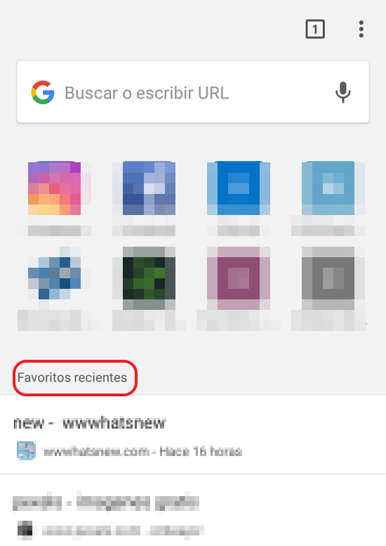 contenido sugerido chrome android desactivar
