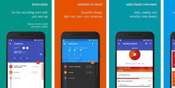 app de seguimiento de tiempo android