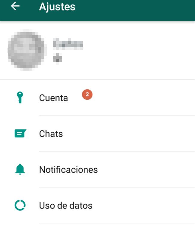 opcion cuenta whatsapp