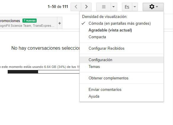 cambiar idioma gmail