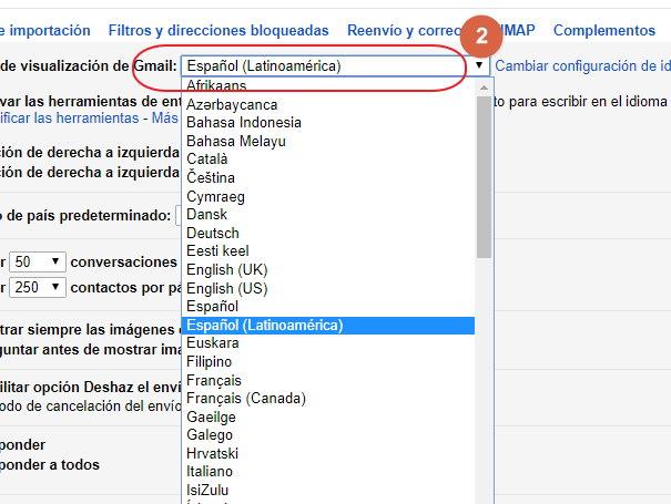 como poner gmail en español