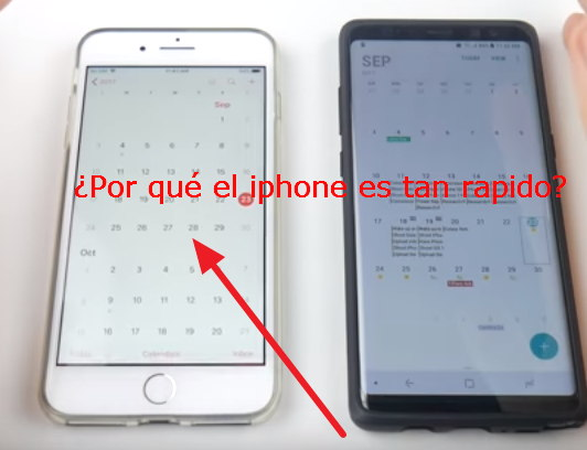 iphone es mas rapido