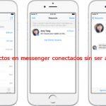 Contacto conectado en messenger sin tenerlo agregado ¿Por qué sale así?