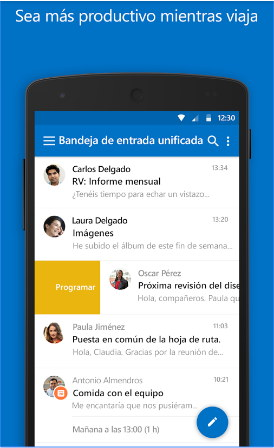 outlook android configurar