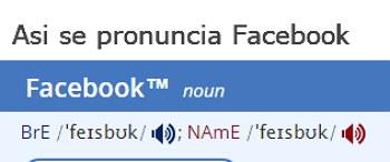 facebook pronunciacion correcta