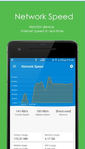 ver la velocidad de internet android