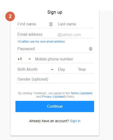 crear correo de yahoo