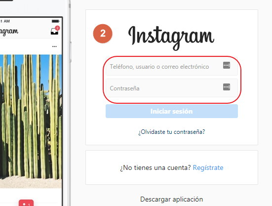 paso 2 reactivar instagram
