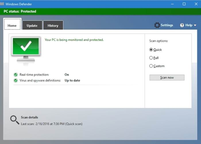 Windows defender desactivar