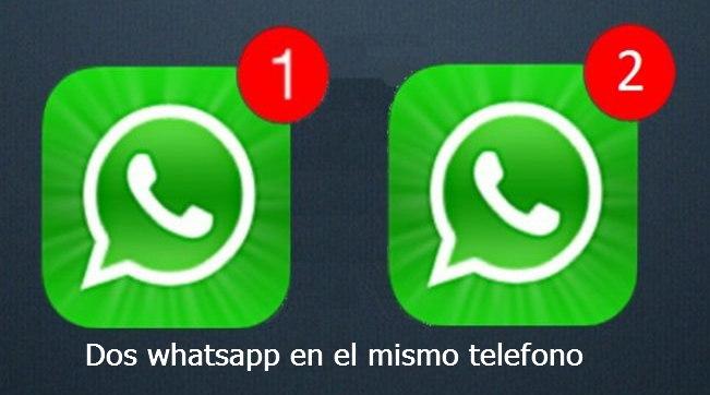 dos whatsapp en el mismo telefono