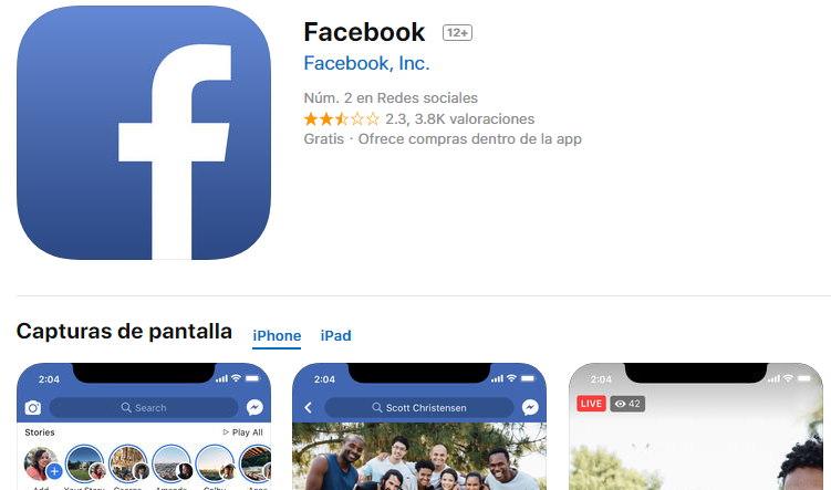 facebook iphone como instalar