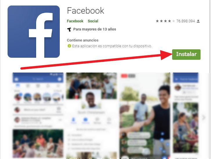instalar facebook