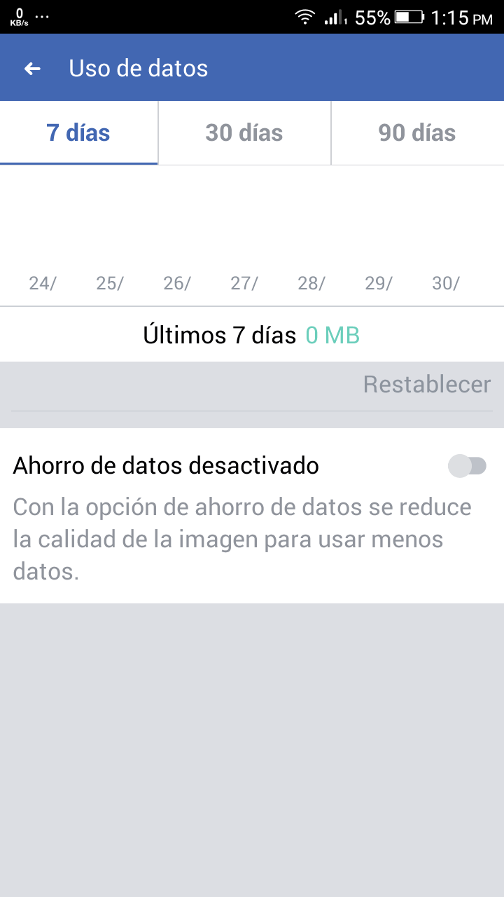 ahorrar datos facebook app
