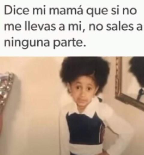 meme de Dice mi mama