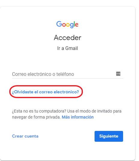 Como recuperar mi cuenta de Gmail