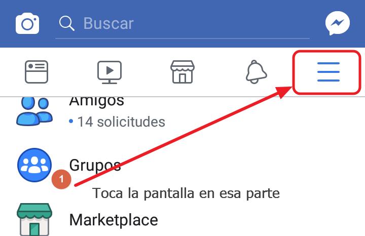 ocultar activo facebook paso 1