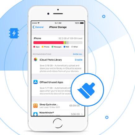 remover archivos temporales iphone