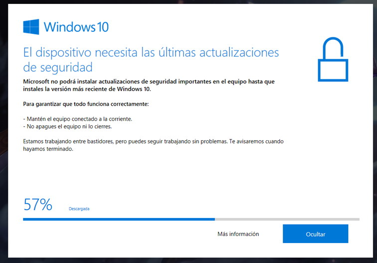 Windows 10 actualizaciones frecuentes